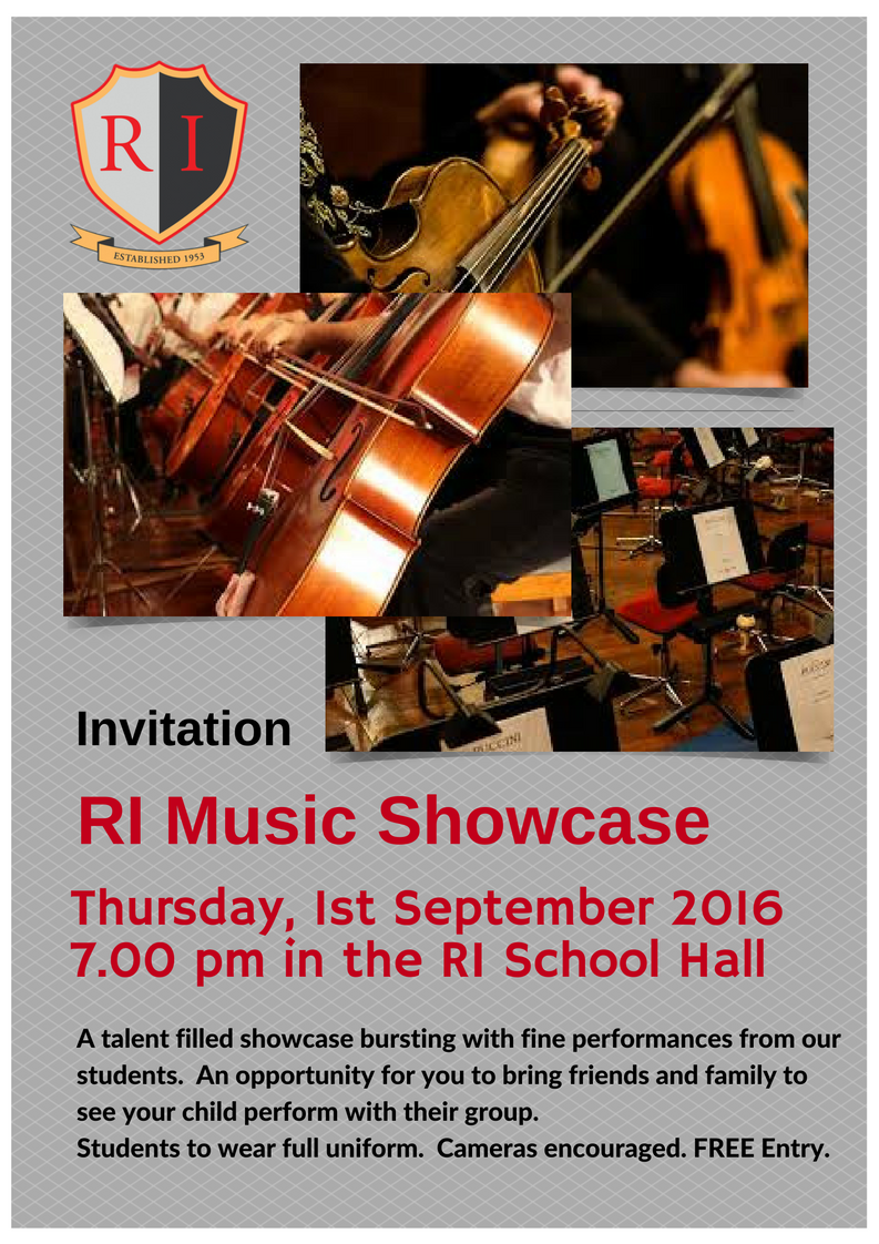 Annual music showcase evening remuera intermediate school thursday 1st september presenting a talent filled showcase with fine performances from our students permission letter download here music thecheapjerseys Images